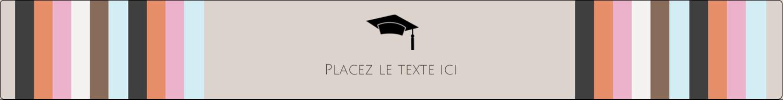 """1½"""" x 2½"""" Étiquettes ovales - Mortier de diplômé"""