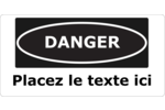 Gabarits Danger – Matières dangereuses Étiquettes Voyantes - gabarit prédéfini. <br/>Utilisez notre logiciel Avery Design & Print Online pour personnaliser facilement la conception.