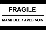 Gabarits Fragile – Manipuler avec soin Étiquettes Voyantes - gabarit prédéfini. <br/>Utilisez notre logiciel Avery Design & Print Online pour personnaliser facilement la conception.