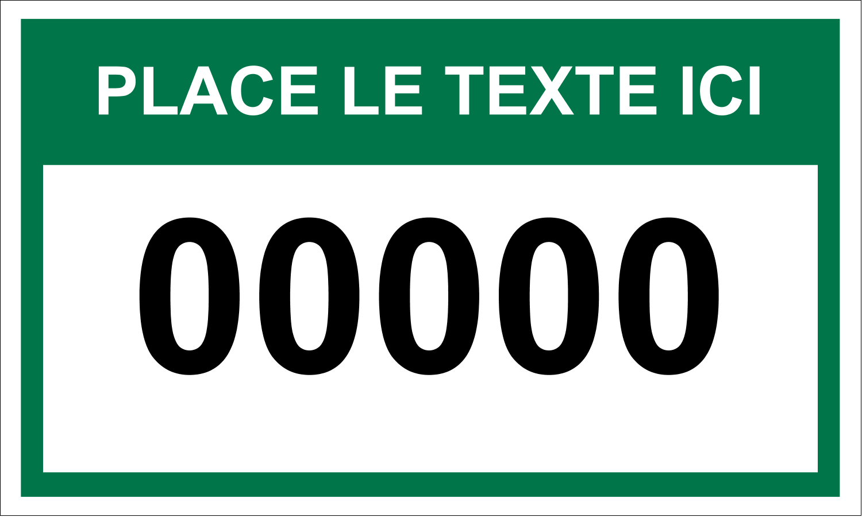"""3"""" x 5"""" Cartes Pour Le Bureau - Numéros de série"""
