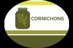 Pot de cornichons Étiquettes ovales - gabarit prédéfini. <br/>Utilisez notre logiciel Avery Design & Print Online pour personnaliser facilement la conception.