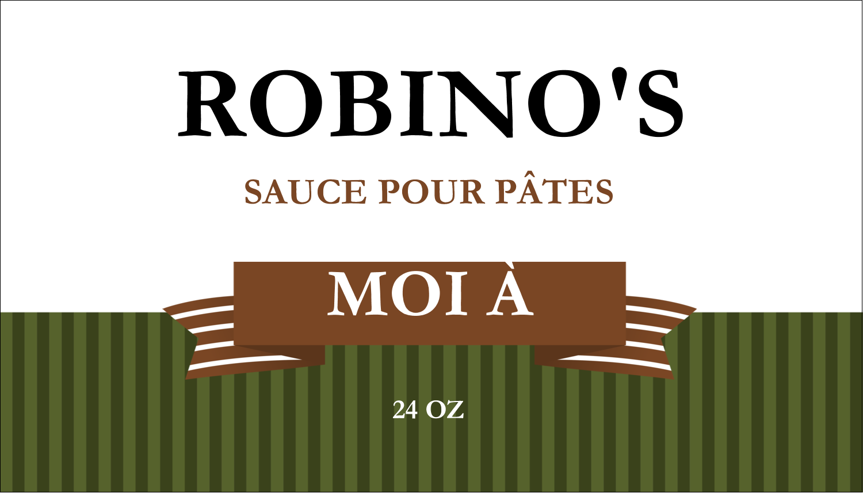Sauce italienne à la viande pour pâtes Carte d'affaire - gabarit prédéfini. <br/>Utilisez notre logiciel Avery Design & Print Online pour personnaliser facilement la conception.