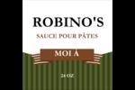 Sauce italienne à la viande pour pâtes Étiquettes enveloppantes - gabarit prédéfini. <br/>Utilisez notre logiciel Avery Design & Print Online pour personnaliser facilement la conception.