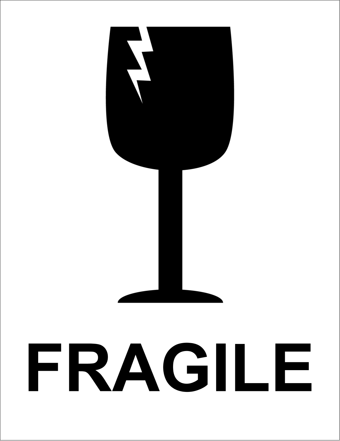 picture regarding Printable Fragile Label titled Indications Sensitive Gl predesigned template for your subsequent