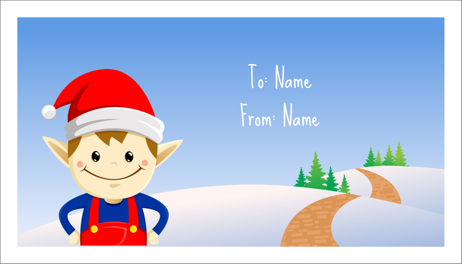 Avery 08376 perforated business cards 2 x 3 12 rectangle ivory henry is averys secret holiday weapon hes a cute little elf who loves to label wajeb Images