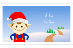 Henri le Lutin  Carte d'affaire - gabarit prédéfini. <br/>Utilisez notre logiciel Avery Design & Print Online pour personnaliser facilement la conception.