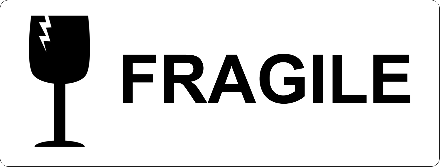 It's just a photo of Fragile Glass Labels Printable for end up