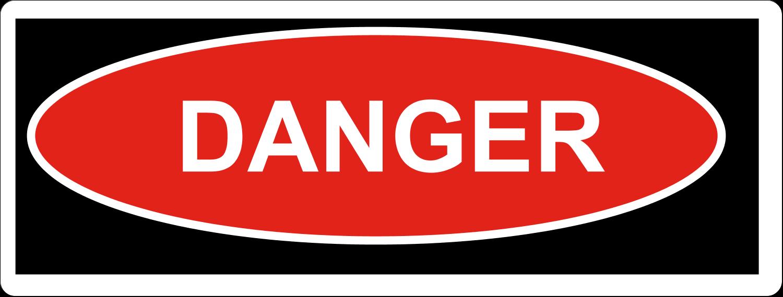"2⅝"" x 1"" Fluorescent Label - Danger"