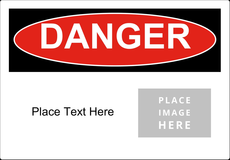 """5"""" x 3½"""" Industrial Label - Danger"""