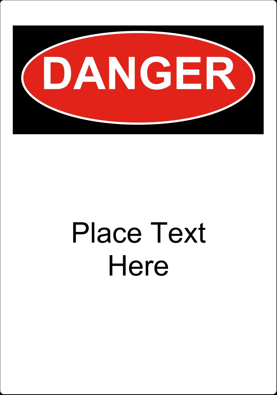 """3½"""" x 5"""" Industrial Label - Danger"""