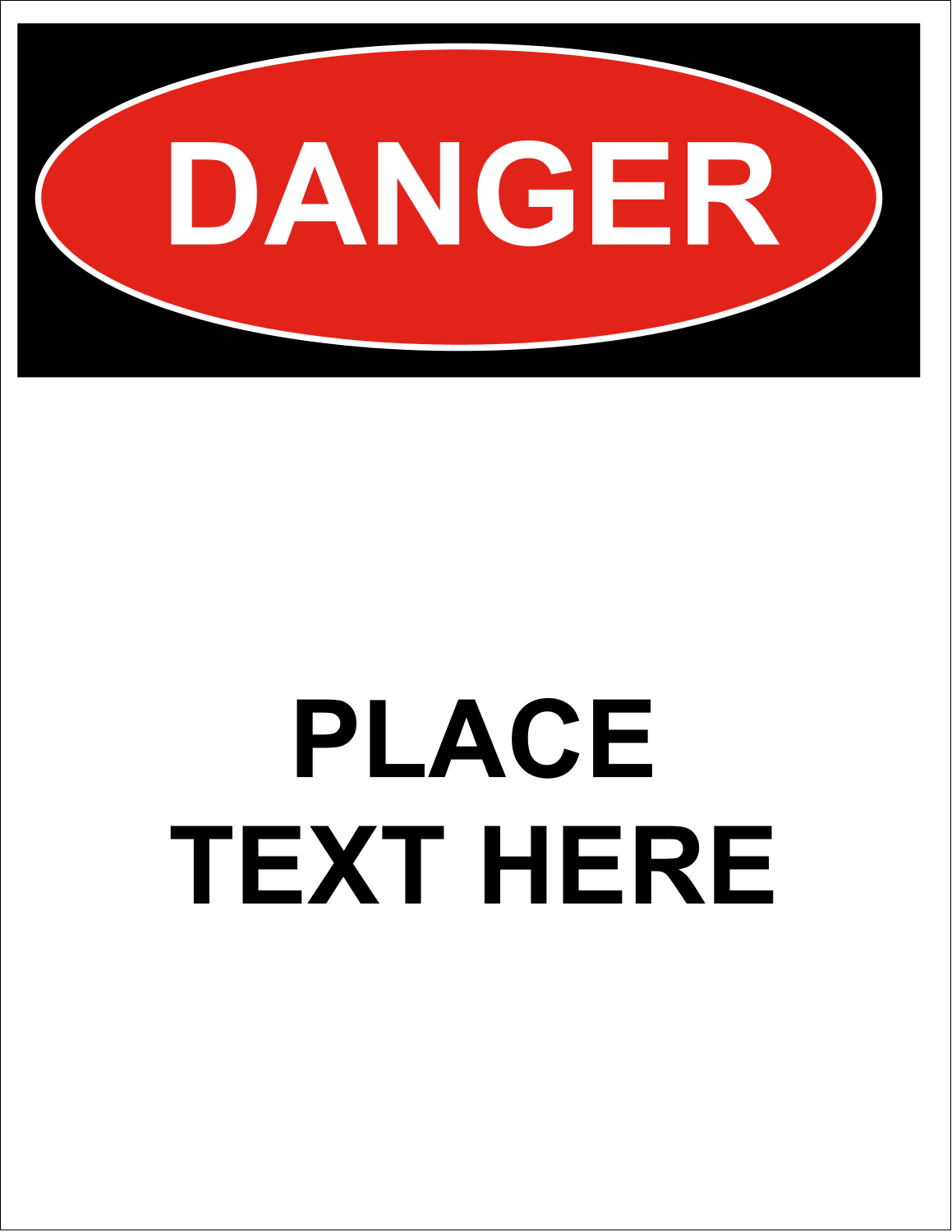 "8½"" x 11"" ID Label - Danger"