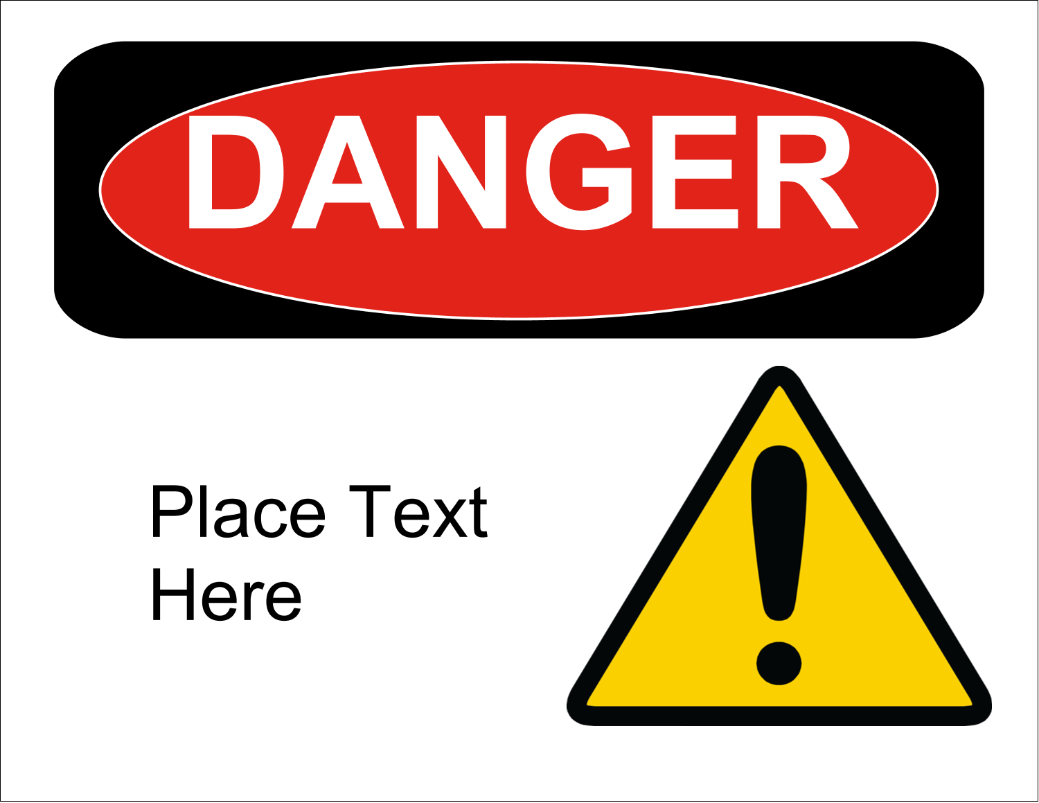 "11"" x 8½"" ID Label - Danger"