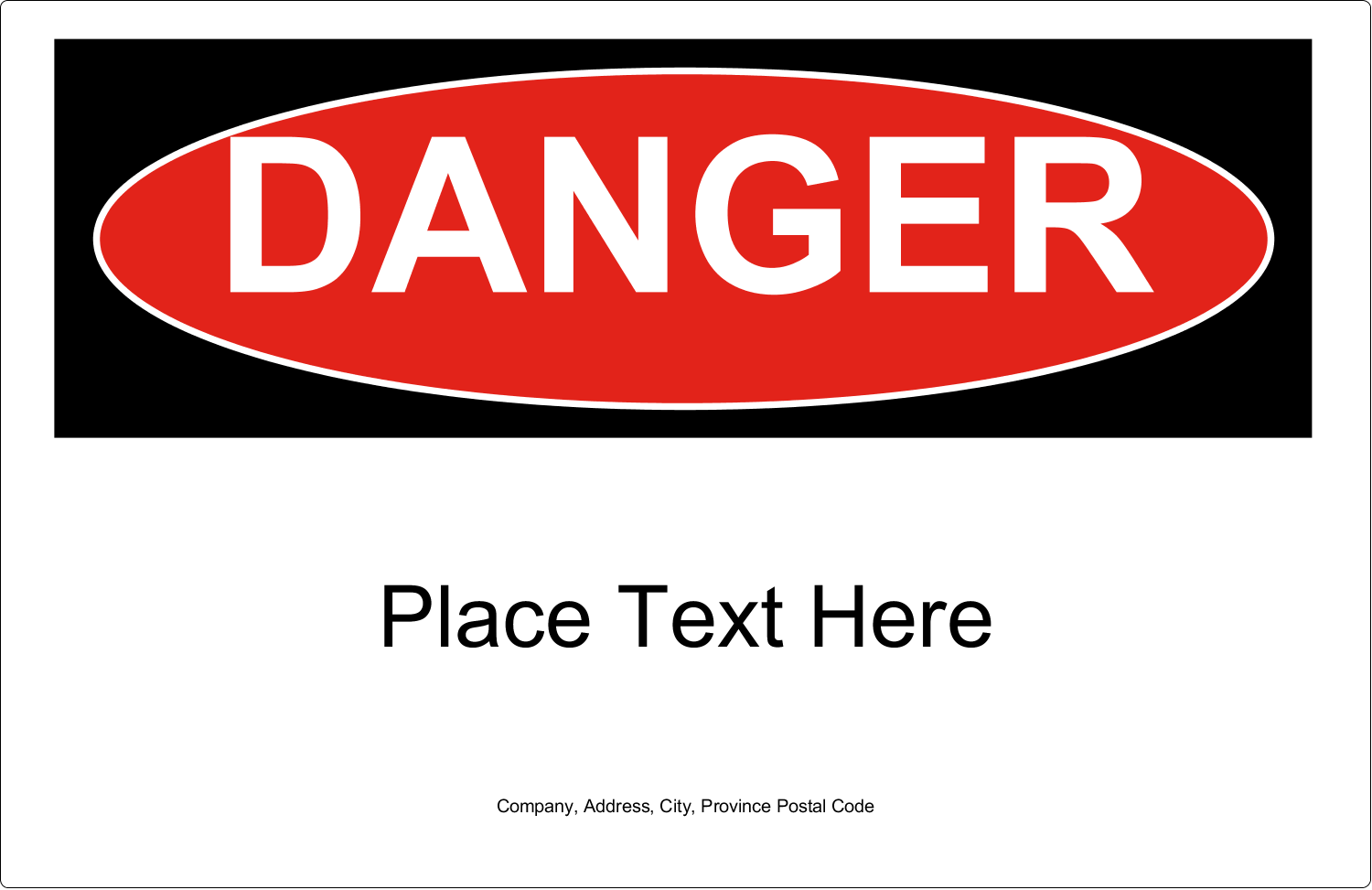 "5½"" x 8½"" Shipping Label - Danger"