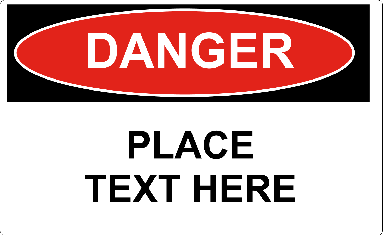 "8⅛"" x 5"" Shipping Label - Danger"