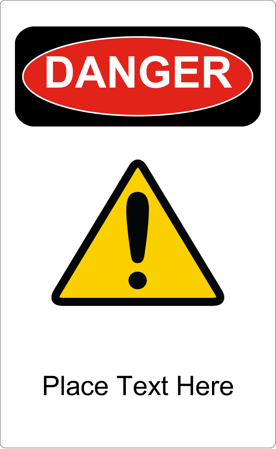 "5"" x 8⅛"" Shipping Label - Danger"