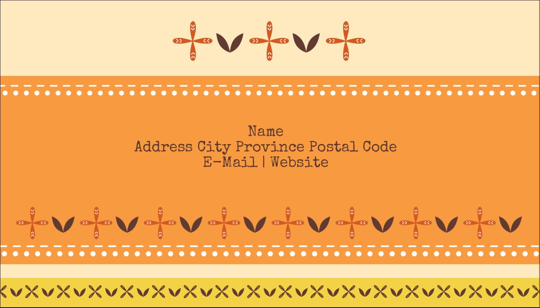 "2"" x 3½"" Business Card - Geometric Orange Blossoms"