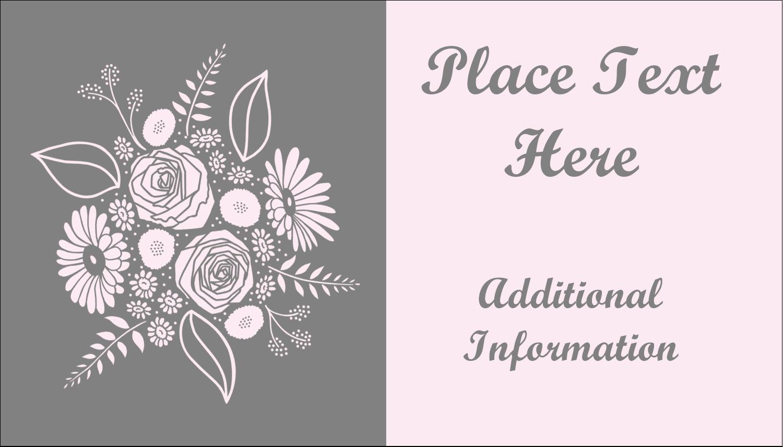 """2"""" x 3½"""" Business Card - Floral Bouquet"""