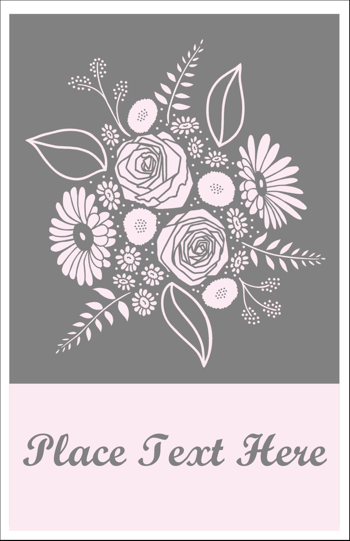 "5"" x 8½"" Half Fold Card - Floral Bouquet"