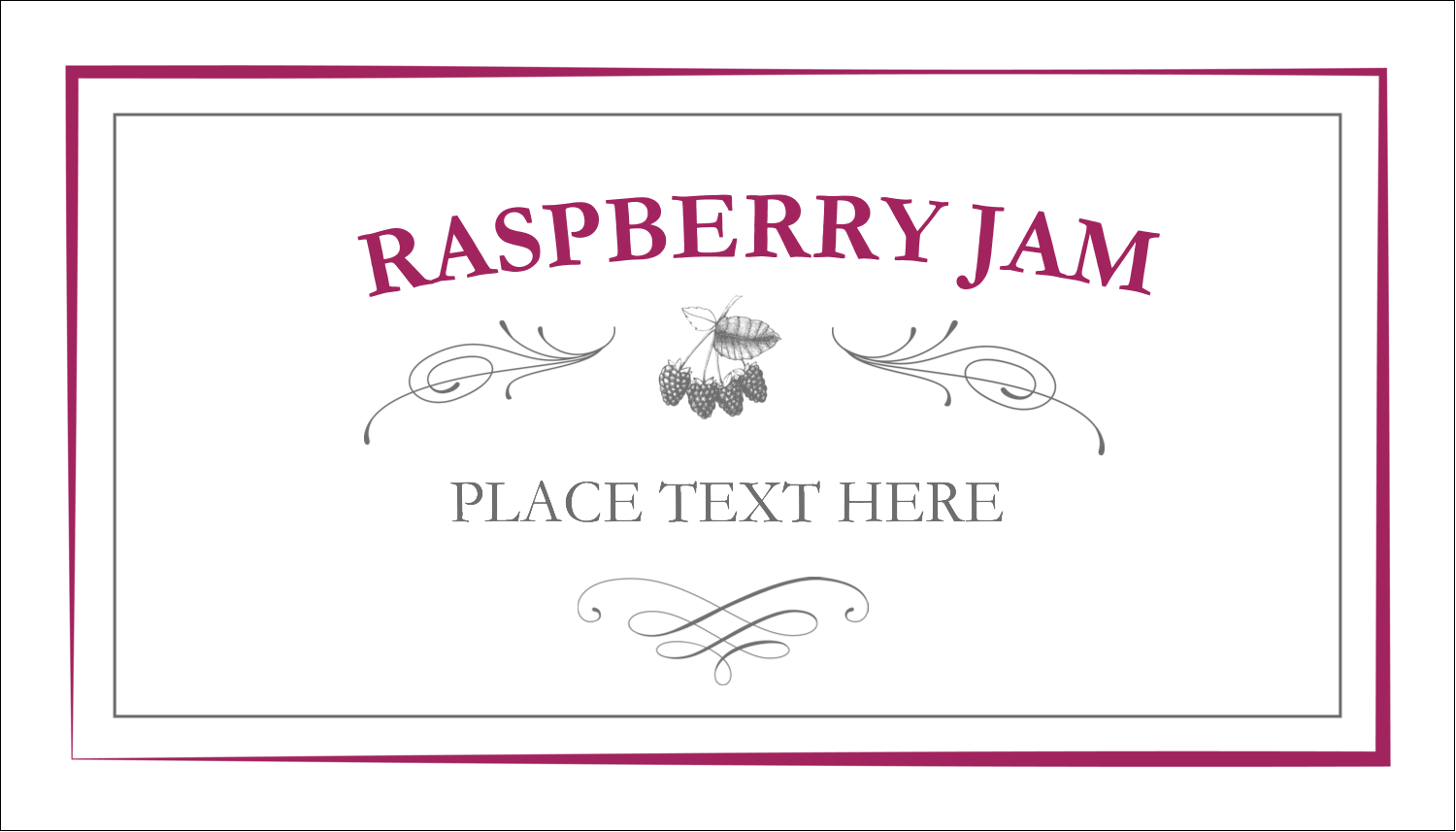 Old fashioned raspberry jam pre designed label and card templates 2 x 3 business card old fashioned raspberry jam reheart Choice Image