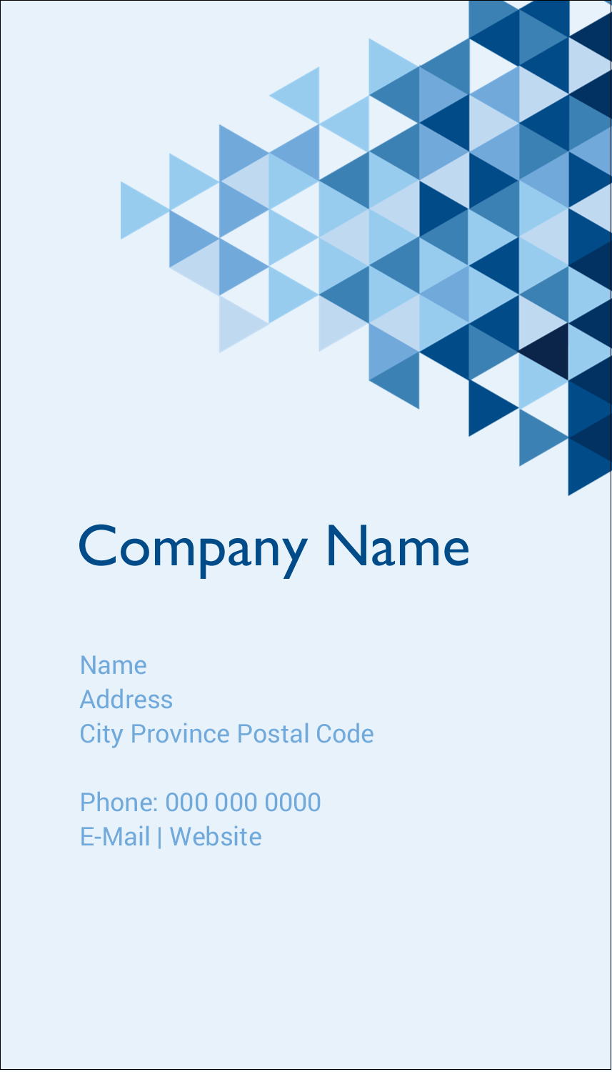 "3½"" x 2"" Business Card - Blue Angles"
