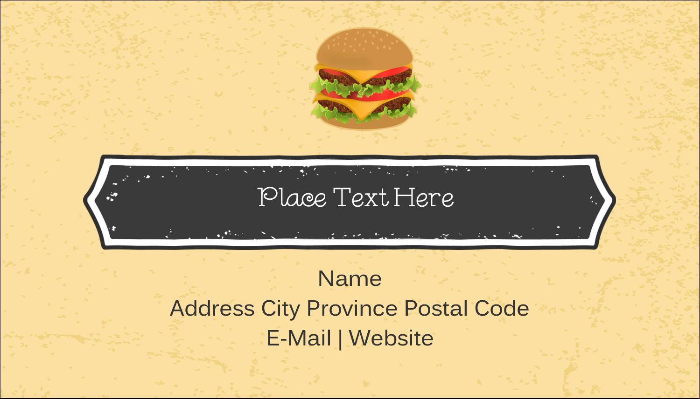 "2"" x 3½"" Business Card - Burger"
