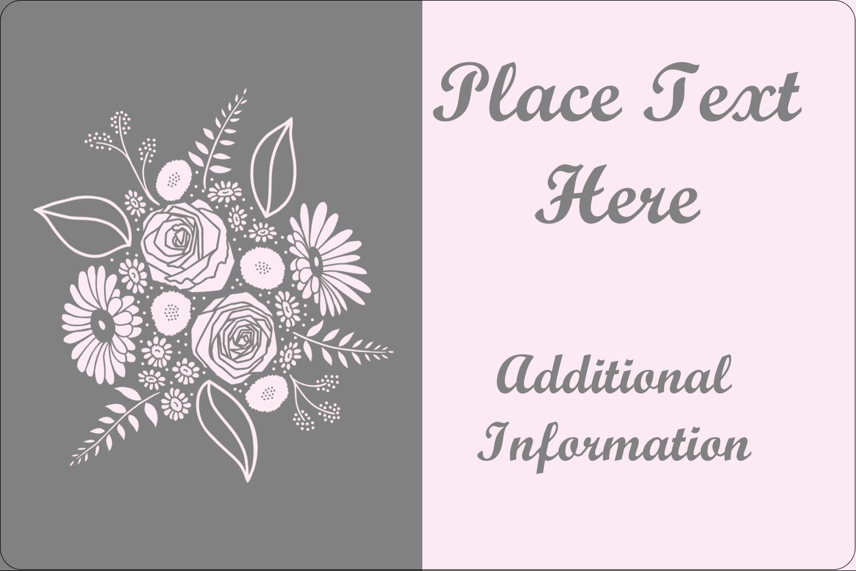 """2"""" x 3"""" Rectangular Label - Floral Bouquet"""
