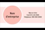 Traitement Sphère rose Carte d'affaire - gabarit prédéfini. <br/>Utilisez notre logiciel Avery Design & Print Online pour personnaliser facilement la conception.
