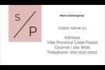 Traitement monogramme Carte d'affaire - gabarit prédéfini. <br/>Utilisez notre logiciel Avery Design & Print Online pour personnaliser facilement la conception.
