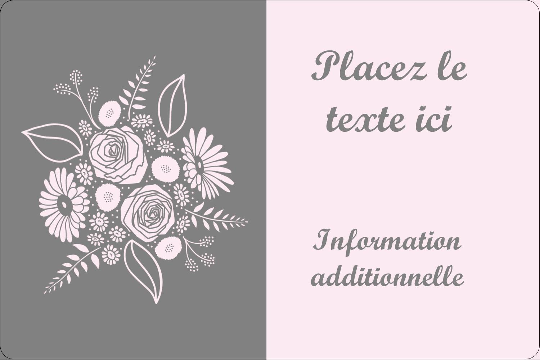 """3"""" x 3¾"""" Étiquettes rectangulaires - Bouquet de fleurs"""