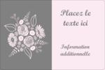 Bouquet de fleurs Étiquettes rectangulaires - gabarit prédéfini. <br/>Utilisez notre logiciel Avery Design & Print Online pour personnaliser facilement la conception.
