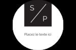Traitement monogramme Étiquettes arrondies - gabarit prédéfini. <br/>Utilisez notre logiciel Avery Design & Print Online pour personnaliser facilement la conception.
