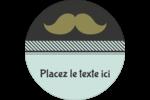 Moustache de papa Étiquettes arrondies - gabarit prédéfini. <br/>Utilisez notre logiciel Avery Design & Print Online pour personnaliser facilement la conception.