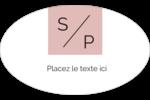 Traitement monogramme Étiquettes carrées - gabarit prédéfini. <br/>Utilisez notre logiciel Avery Design & Print Online pour personnaliser facilement la conception.