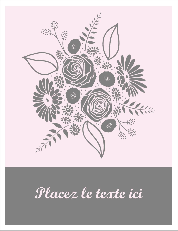 """8½"""" x 11"""" Intercalaires / Onglets - Bouquet de fleurs"""