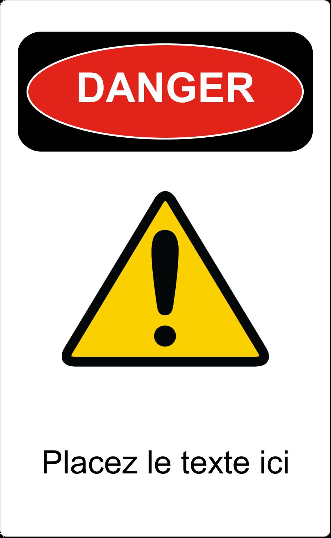 Danger Étiquettes D'Identification - gabarit prédéfini. <br/>Utilisez notre logiciel Avery Design & Print Online pour personnaliser facilement la conception.