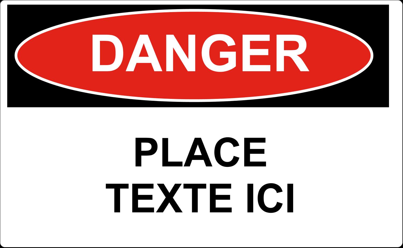 """8⅛"""" x 5"""" Étiquettes d'expéditions - Danger"""