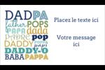 Papas du monde Carte d'affaire - gabarit prédéfini. <br/>Utilisez notre logiciel Avery Design & Print Online pour personnaliser facilement la conception.