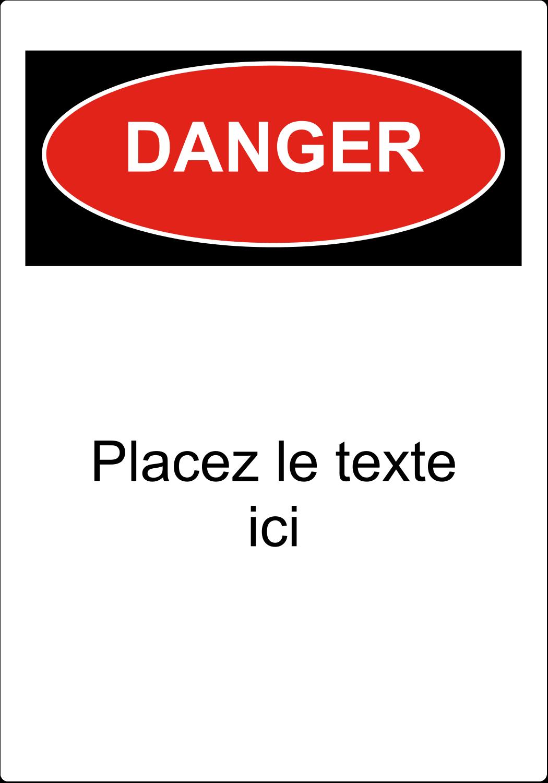 """4"""" x 4"""" Étiquette Industrielles - Danger"""