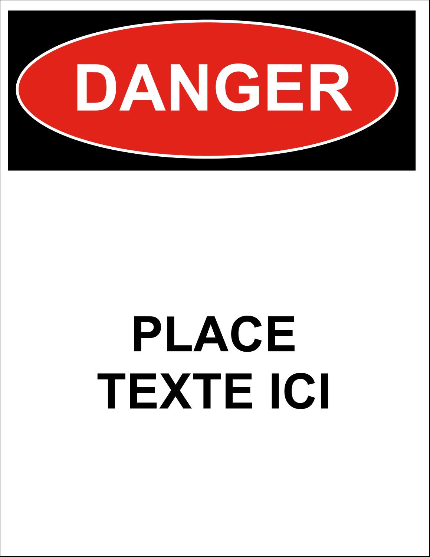 """8½"""" x 11"""" Étiquettes D'Identification - Danger"""