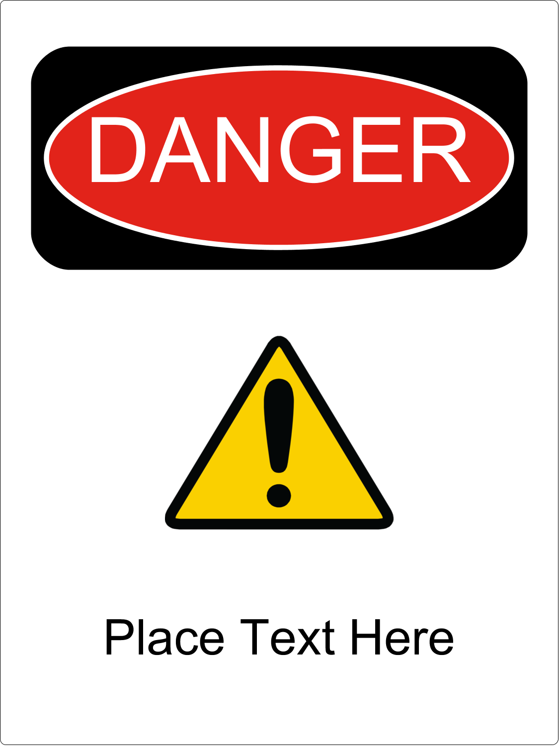 "4½"" x 3½"" Industrial Label - Danger"