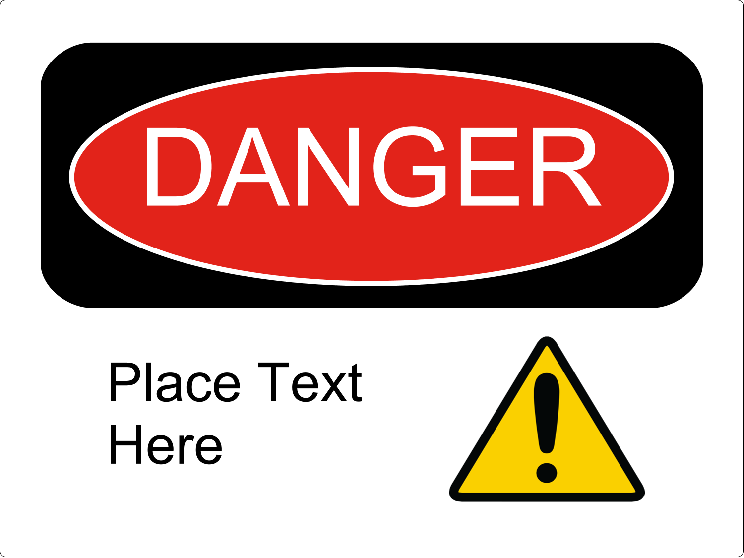 Danger predesigned template for your next project | Avery