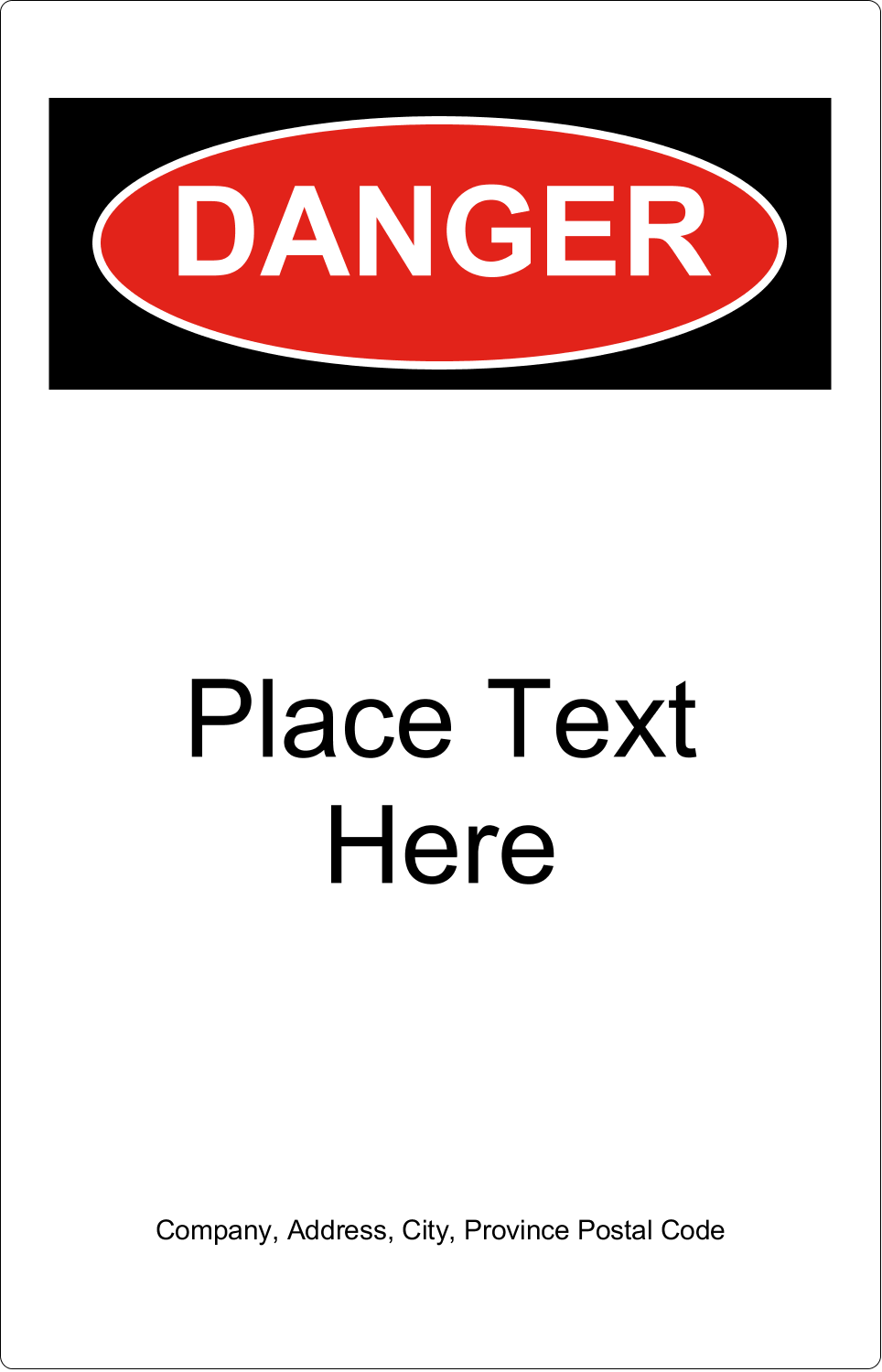 "5"" x 7½"" Industrial Label - Danger"