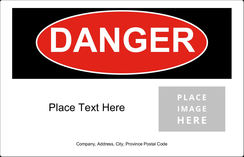 x  Industrial Label - Danger