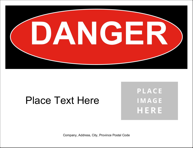 """11"""" x 8½"""" Industrial Label - Danger"""