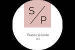 Traitement monogramme Étiquettes Voyantes - gabarit prédéfini. <br/>Utilisez notre logiciel Avery Design & Print Online pour personnaliser facilement la conception.