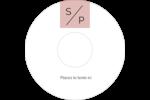 Traitement monogramme Étiquettes de classement - gabarit prédéfini. <br/>Utilisez notre logiciel Avery Design & Print Online pour personnaliser facilement la conception.