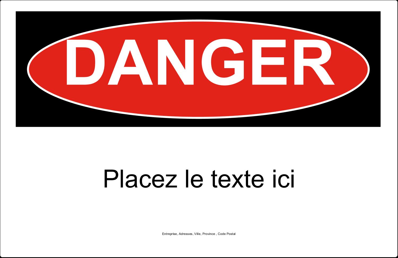 """1½"""" x 4"""" Étiquettes d'adresse - Danger"""