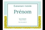 Motif de lignes fines Badges - gabarit prédéfini. <br/>Utilisez notre logiciel Avery Design & Print Online pour personnaliser facilement la conception.