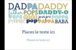 Papas du monde Badges - gabarit prédéfini. <br/>Utilisez notre logiciel Avery Design & Print Online pour personnaliser facilement la conception.