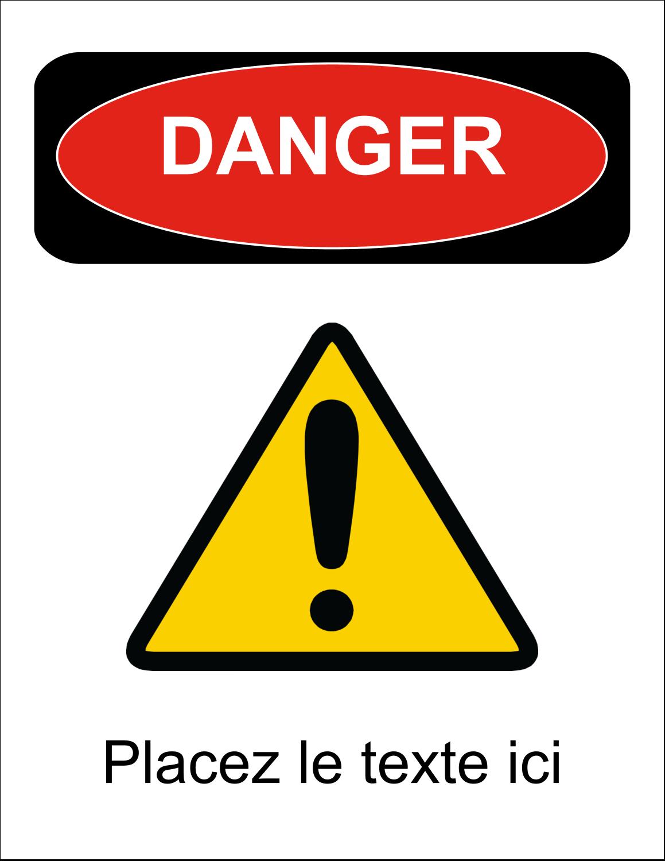 """1¾"""" x ½"""" Étiquettes D'Identification - Danger"""